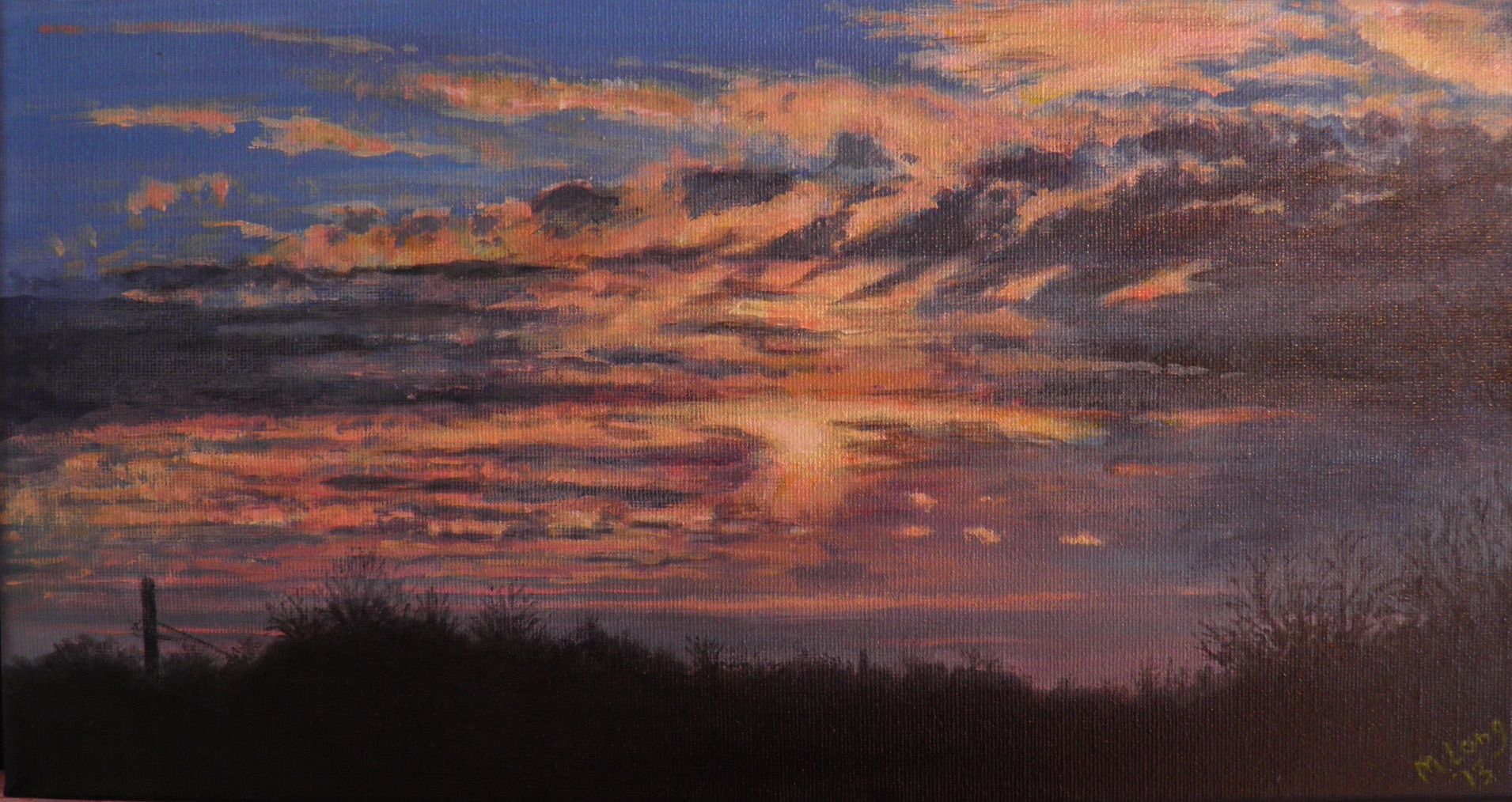 Autumn Sunset, Acrylics