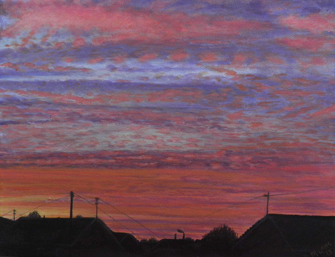 Oulton Sunset, Acrylics