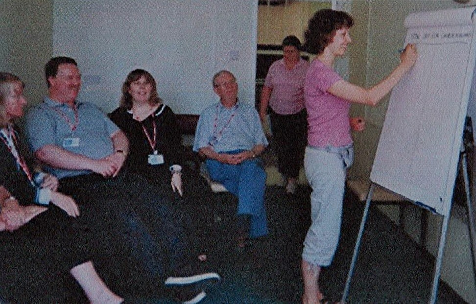 Marie conducting workshop